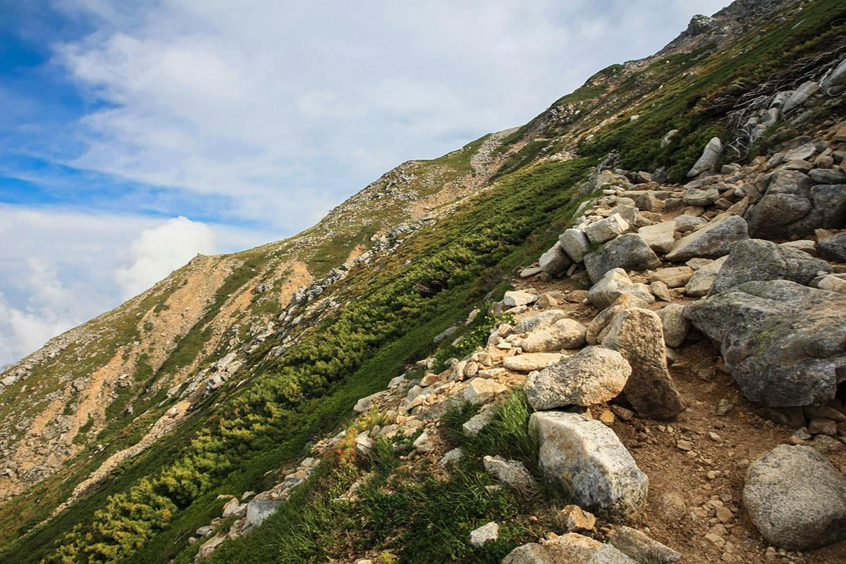 【大天井岳】登山百景-最後のガレ場