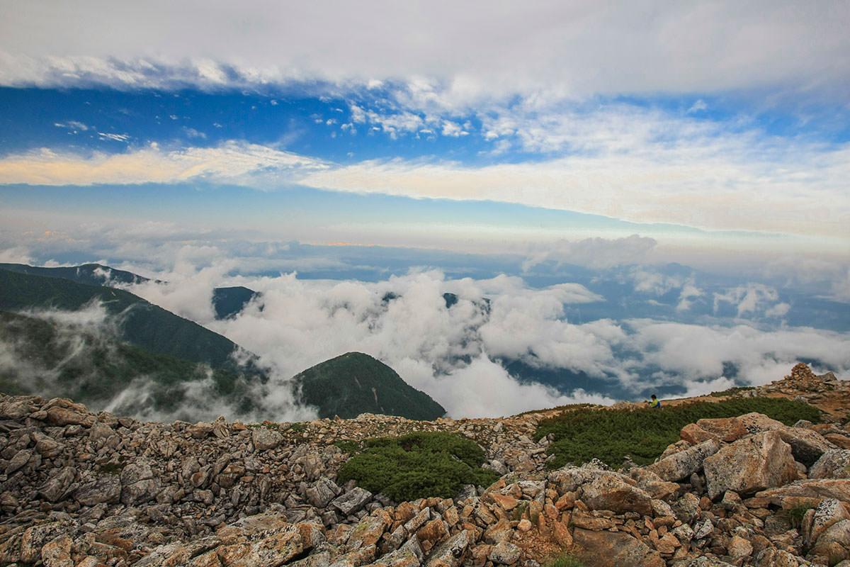 【大天井岳 表銀座】登山百景-安曇野を見下ろす