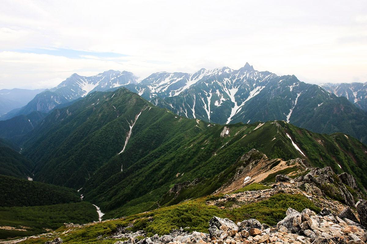 【大天井岳】登山百景-山頂からの槍ヶ岳と穂高岳