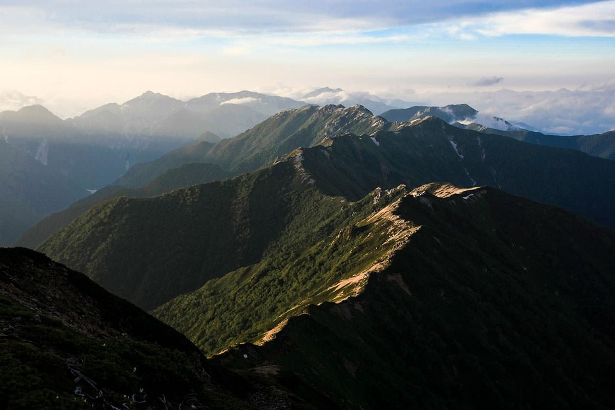 【大天井岳 表銀座】登山百景-槍ヶ岳と穂高岳