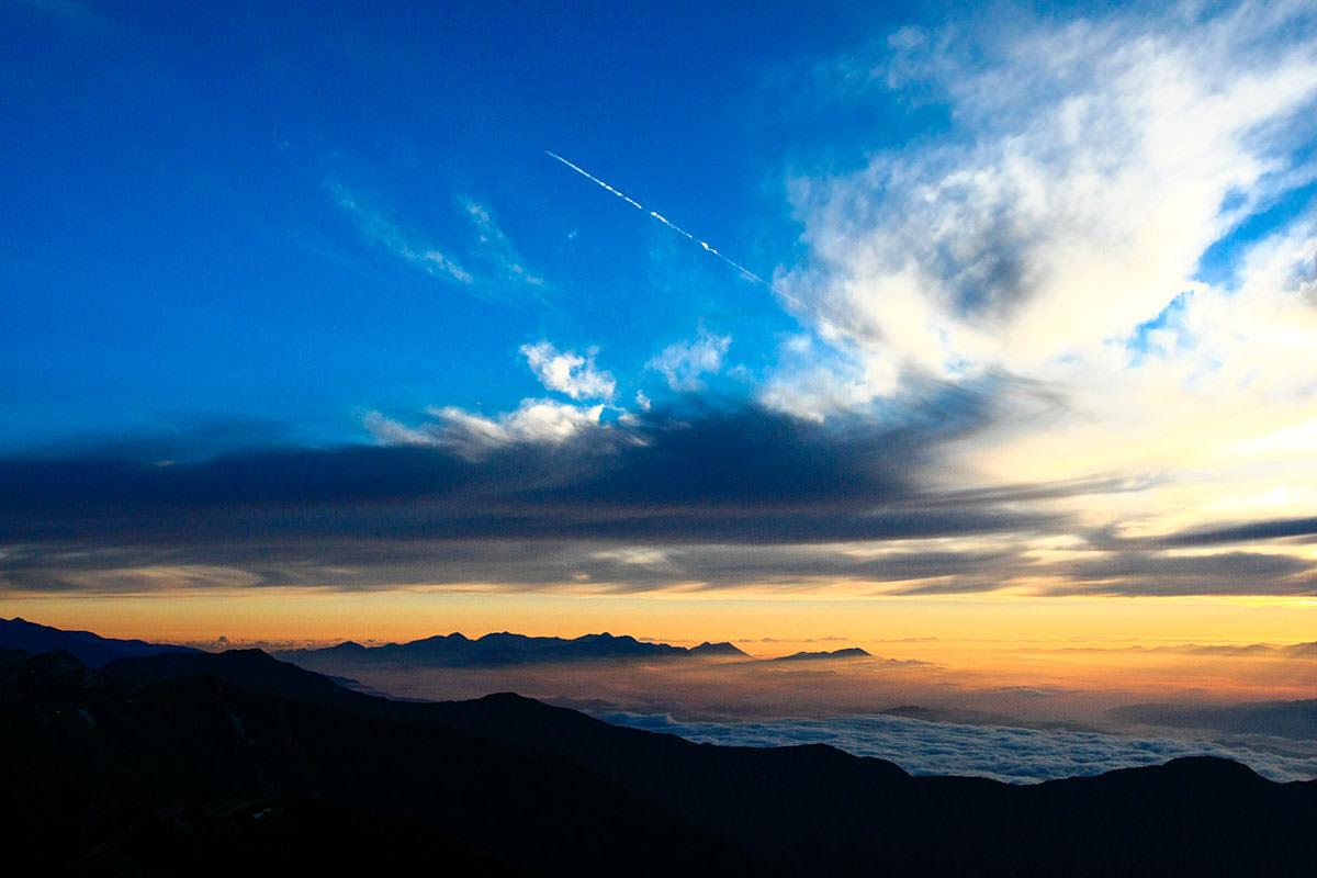 【大天井岳】登山百景-雪渓が残る