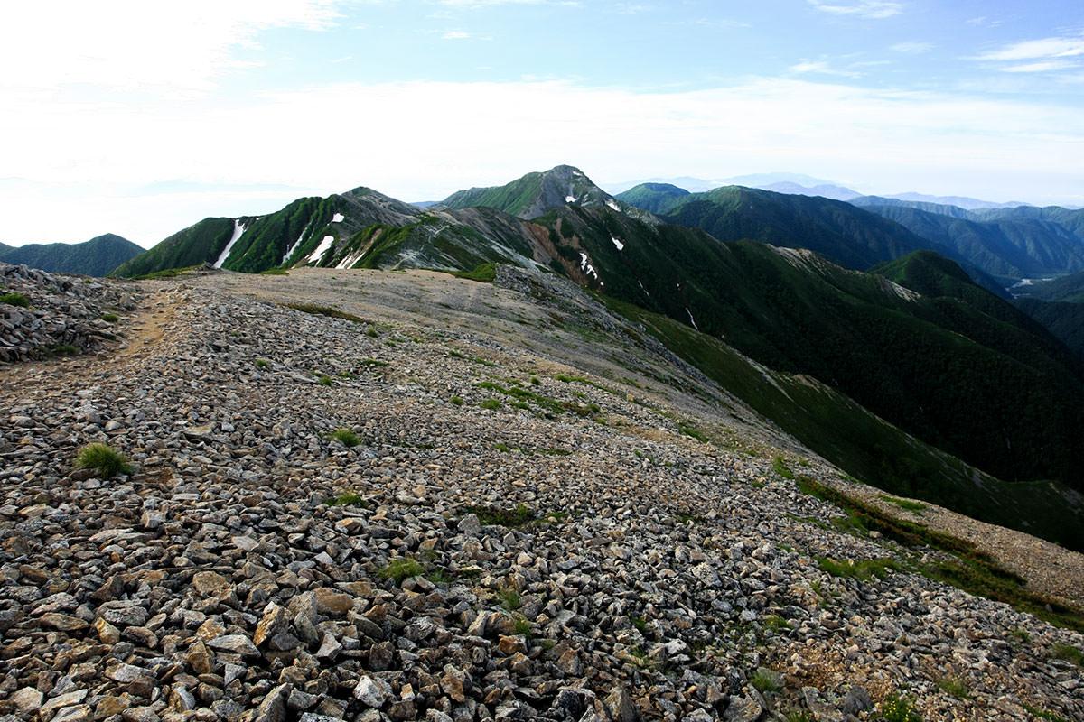 【大天井岳】登山百景-常念手前の横通岳から