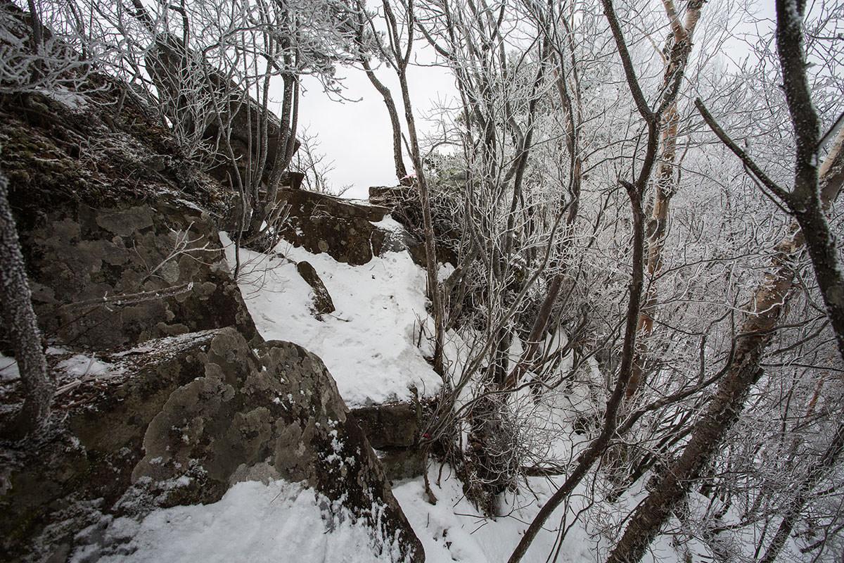 【男山】登山百景-岩場からの眺めは良い