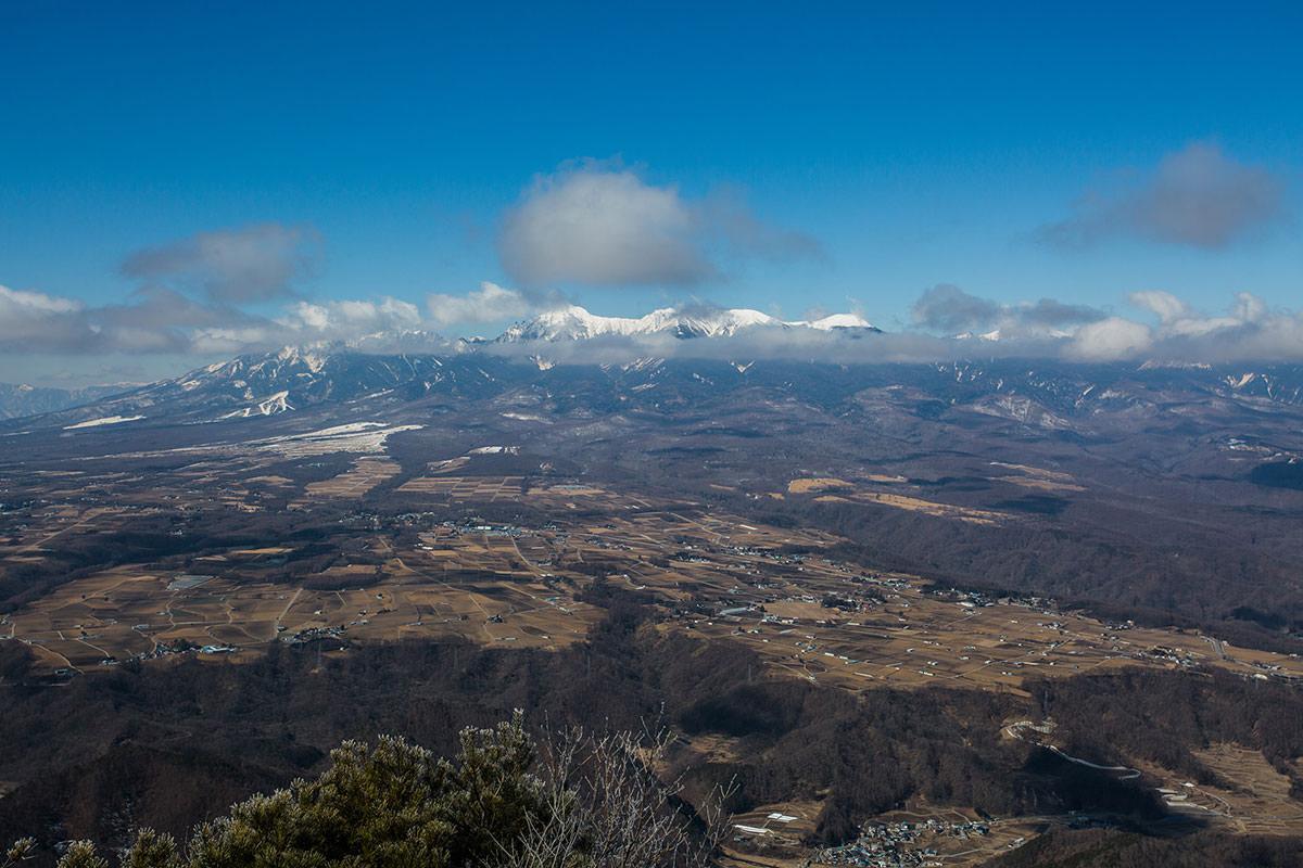 【男山】登山百景-八ヶ岳が見えてきた