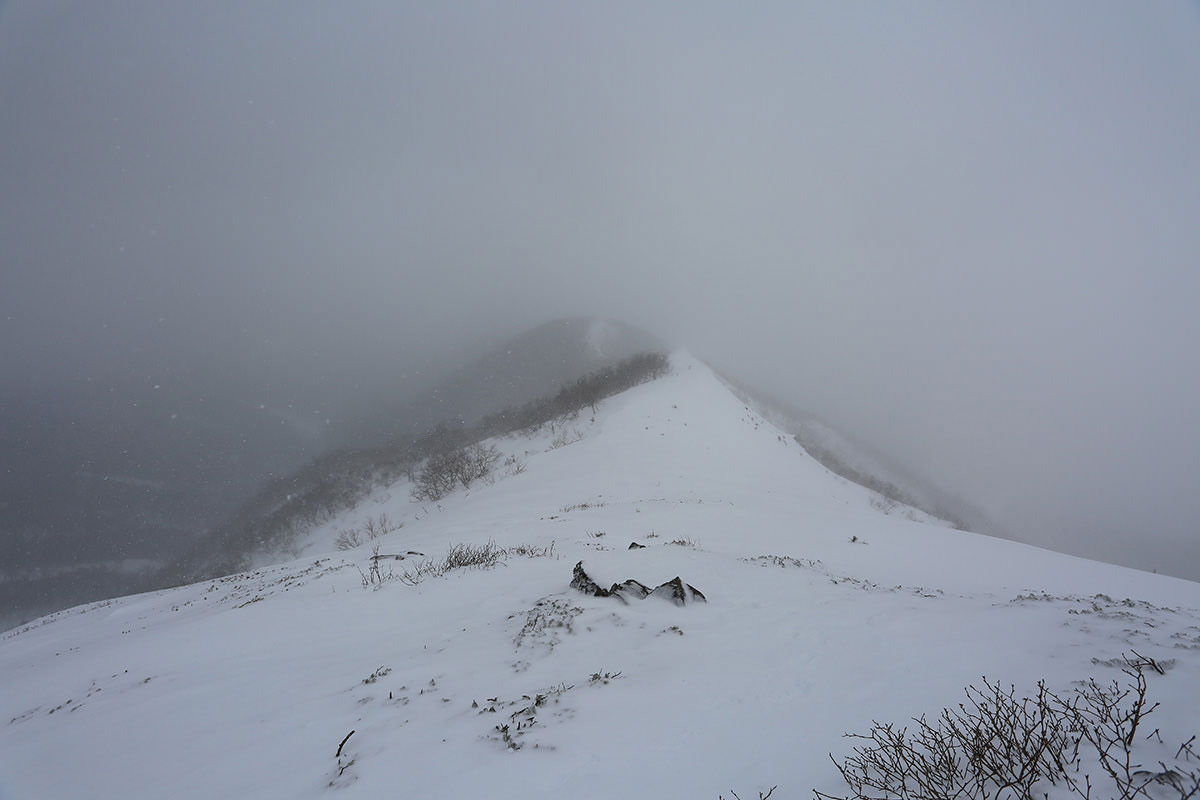 【三叉峰】登山百景-尾根を振り返る