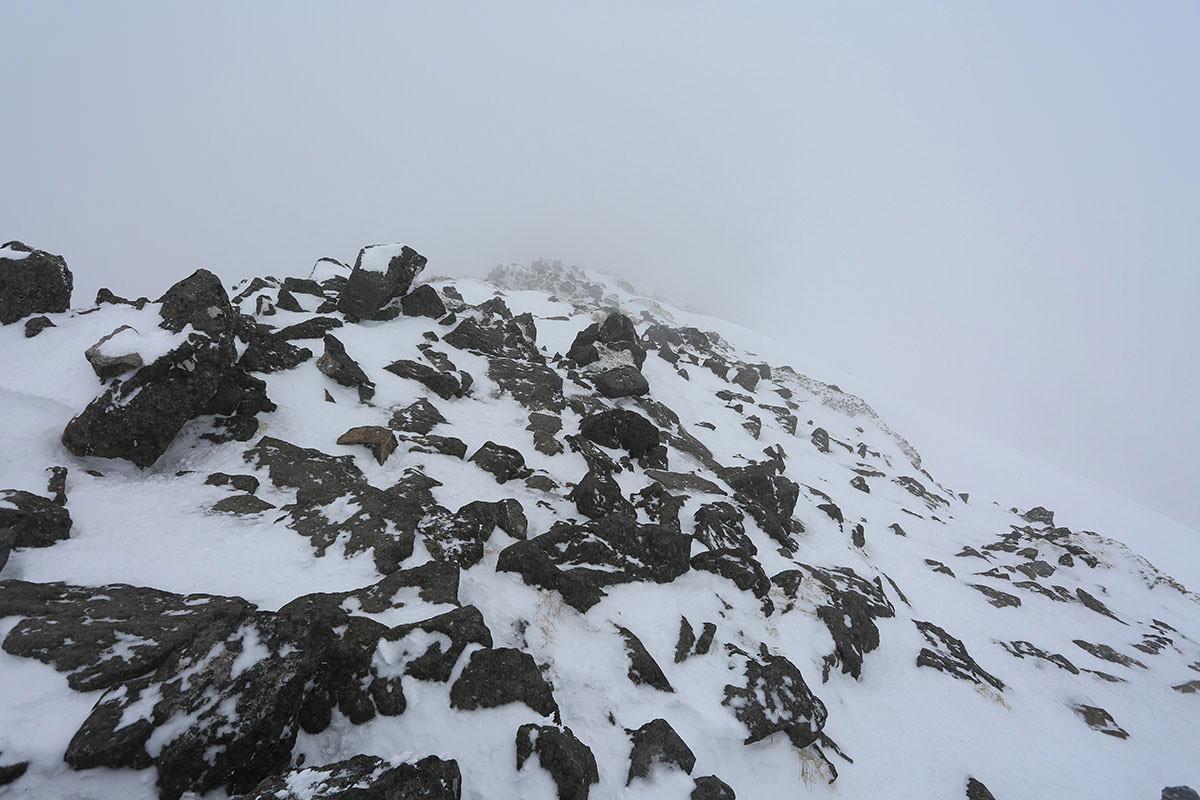 【三叉峰】登山百景-奥の院の方面