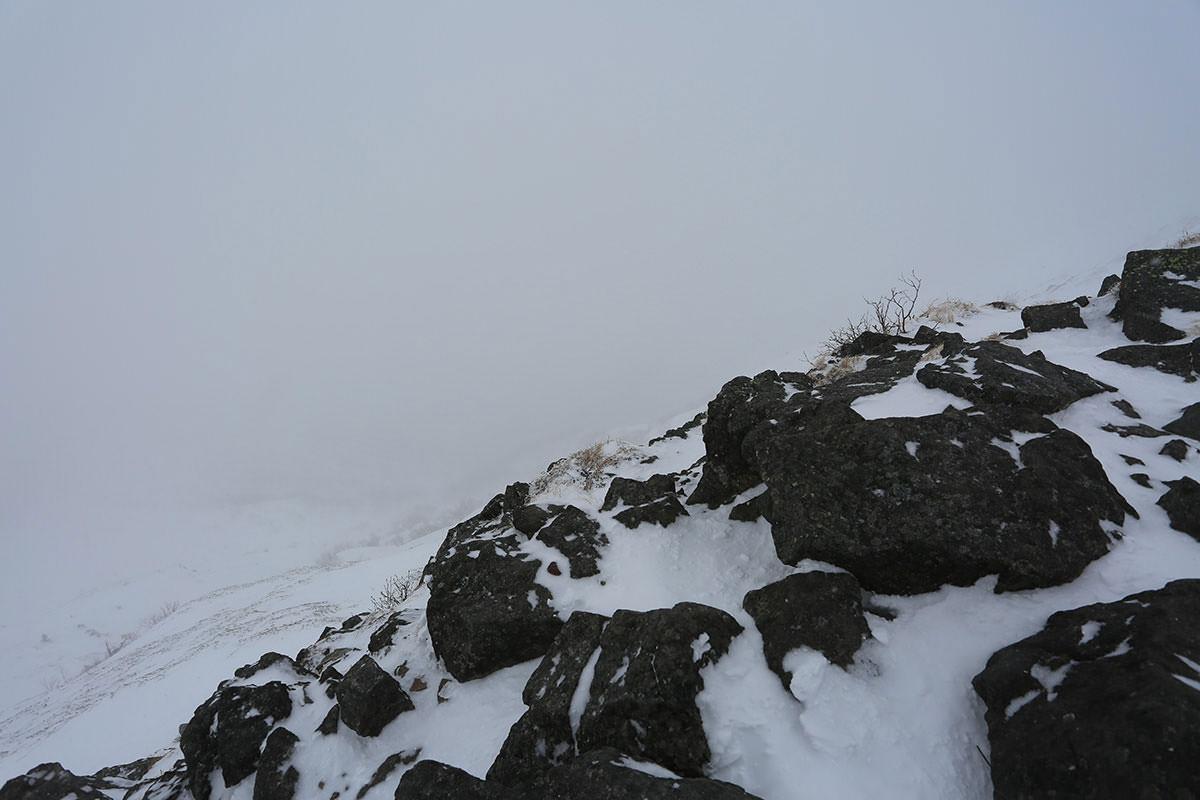 【三叉峰】登山百景-東側の斜面