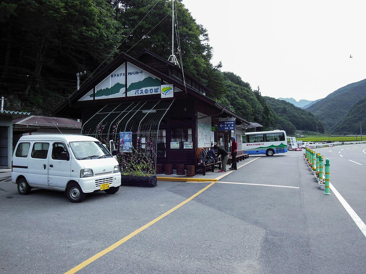 【仙丈ヶ岳】登山百景-伊那のシャトルバス乗り場