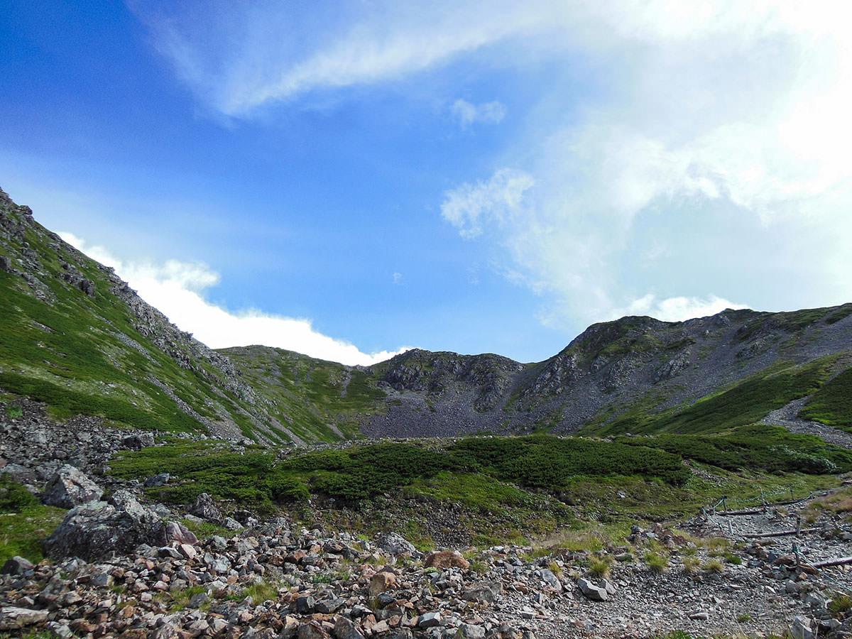 【仙丈ヶ岳】登山百景-東側に鋸岳と甲斐駒ヶ岳