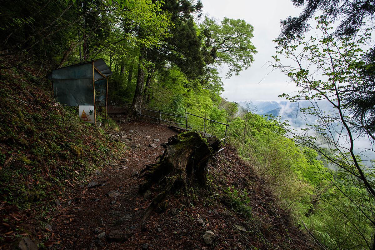 【七面山】登山百景-木が開けた場所