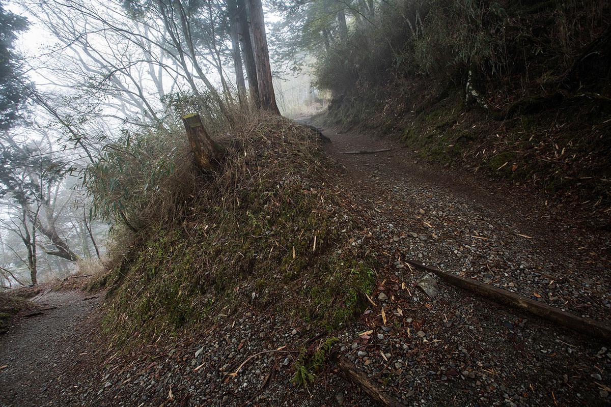 【七面山】登山百景-折り返しながら登っていく