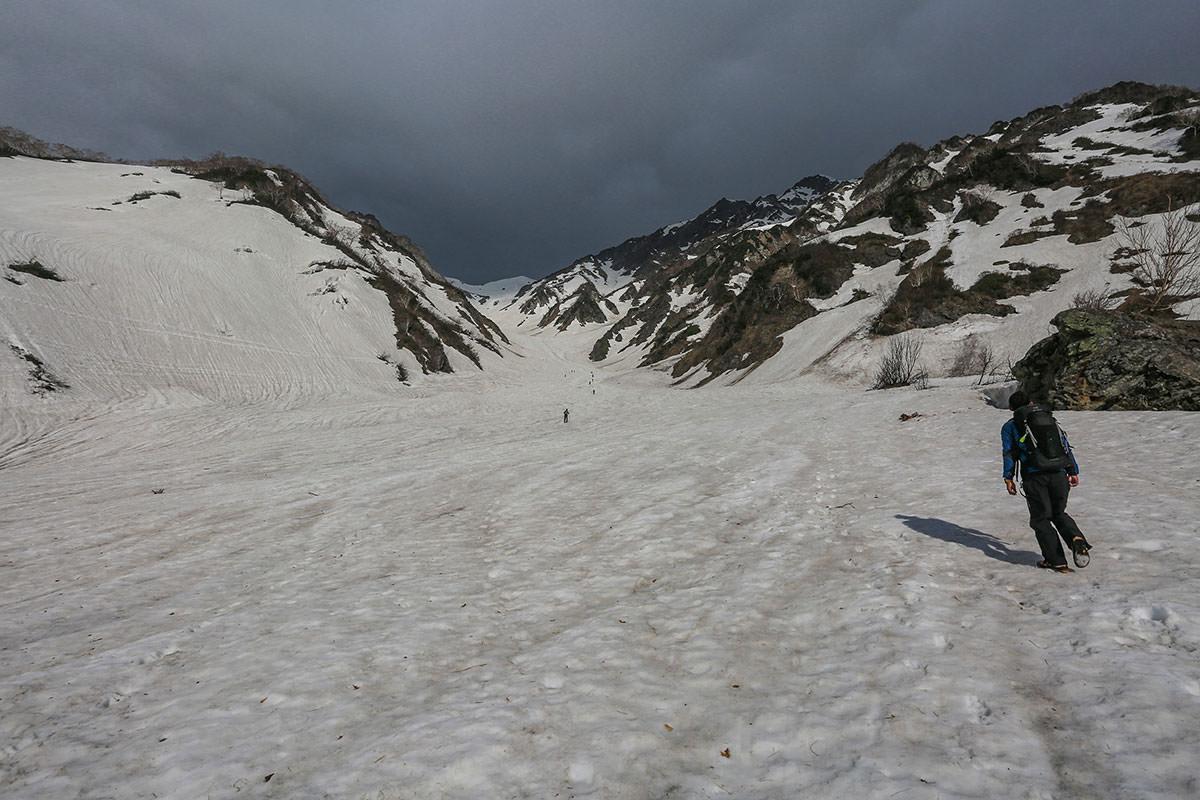 大雪渓開始