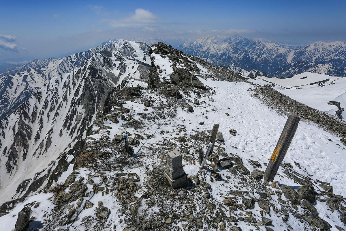 杓子岳と白馬鑓ヶ岳方面