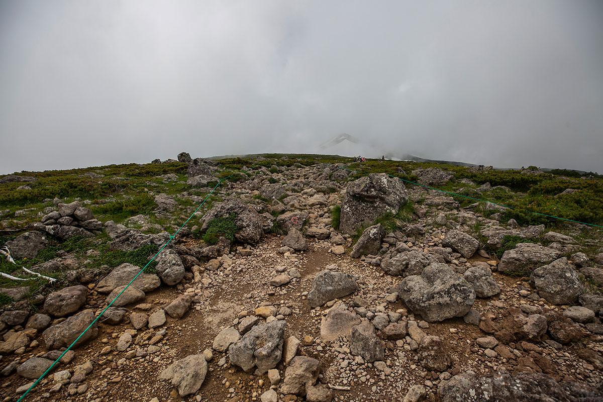 【白馬岳 栂池自然園】登山百景-山頂部は広くて平ら