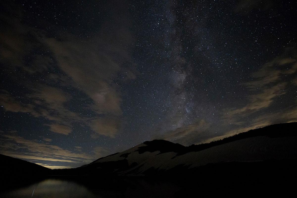 【白馬岳 栂池自然園】登山百景-夜は星がいっぱい