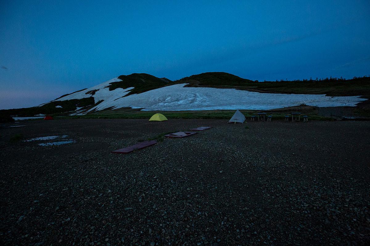 【白馬岳 栂池自然園】登山百景-テント場も静か