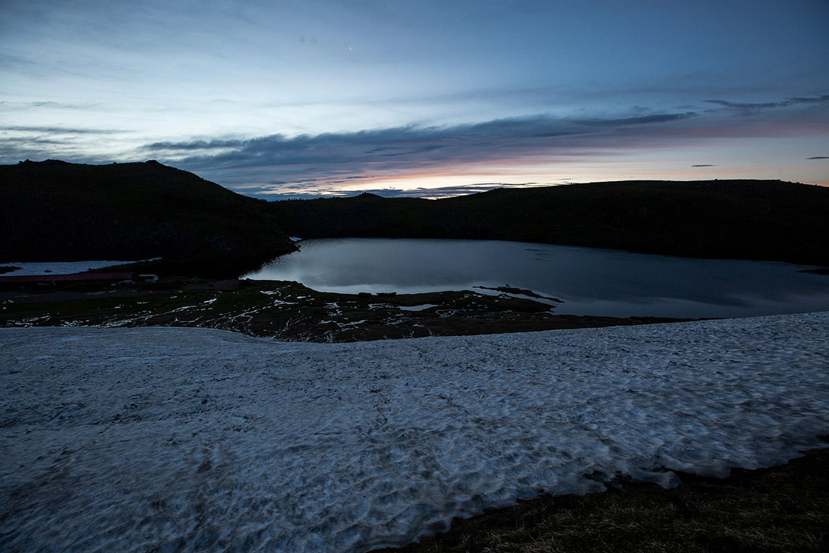 【白馬岳 栂池自然園】登山百景-少し登って振り返る