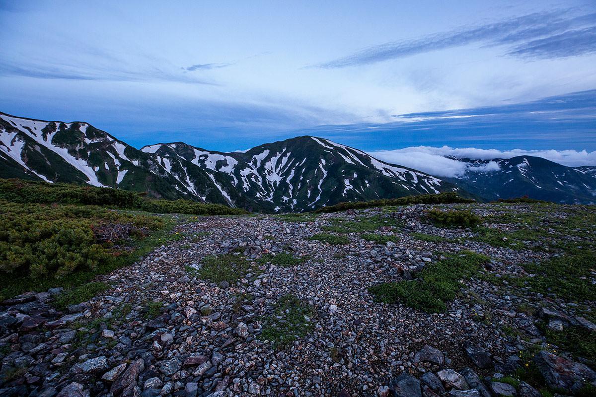 【白馬岳 栂池自然園】登山百景-雪倉岳が見えた