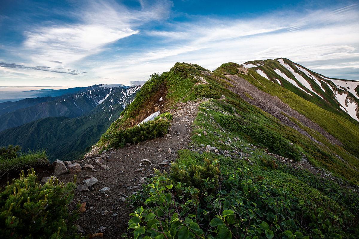 【白馬岳 栂池自然園】登山百景-稜線に出た