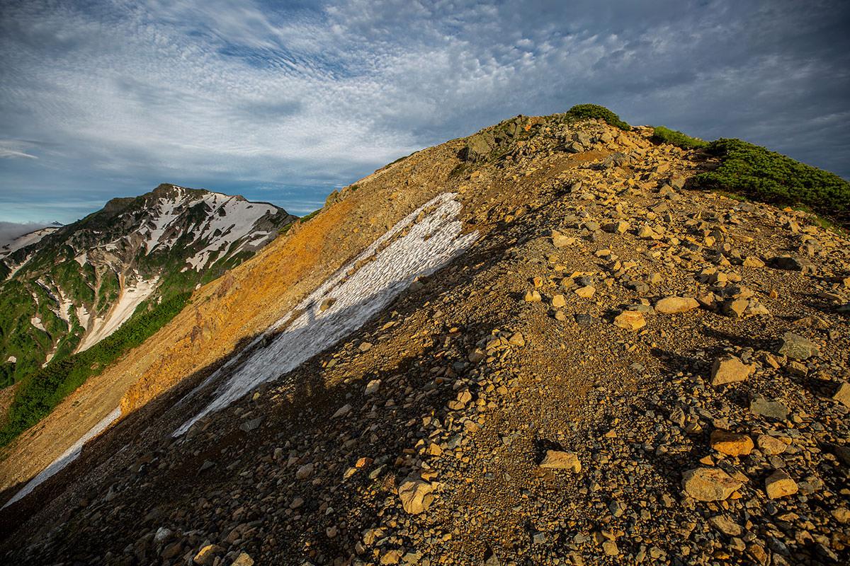 【白馬岳 栂池自然園】登山百景-稜線を小蓮華岳へ