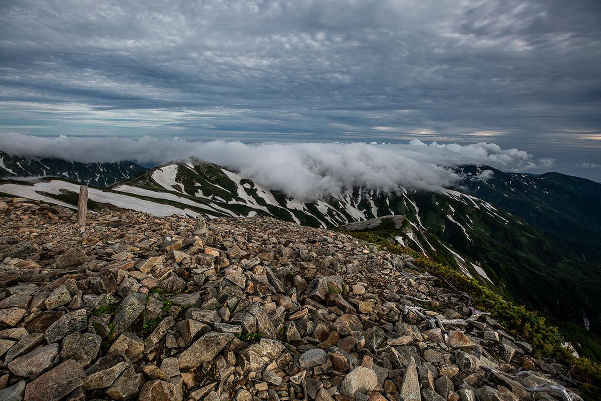 【白馬岳 栂池自然園】登山百景-かなり雲が・・・