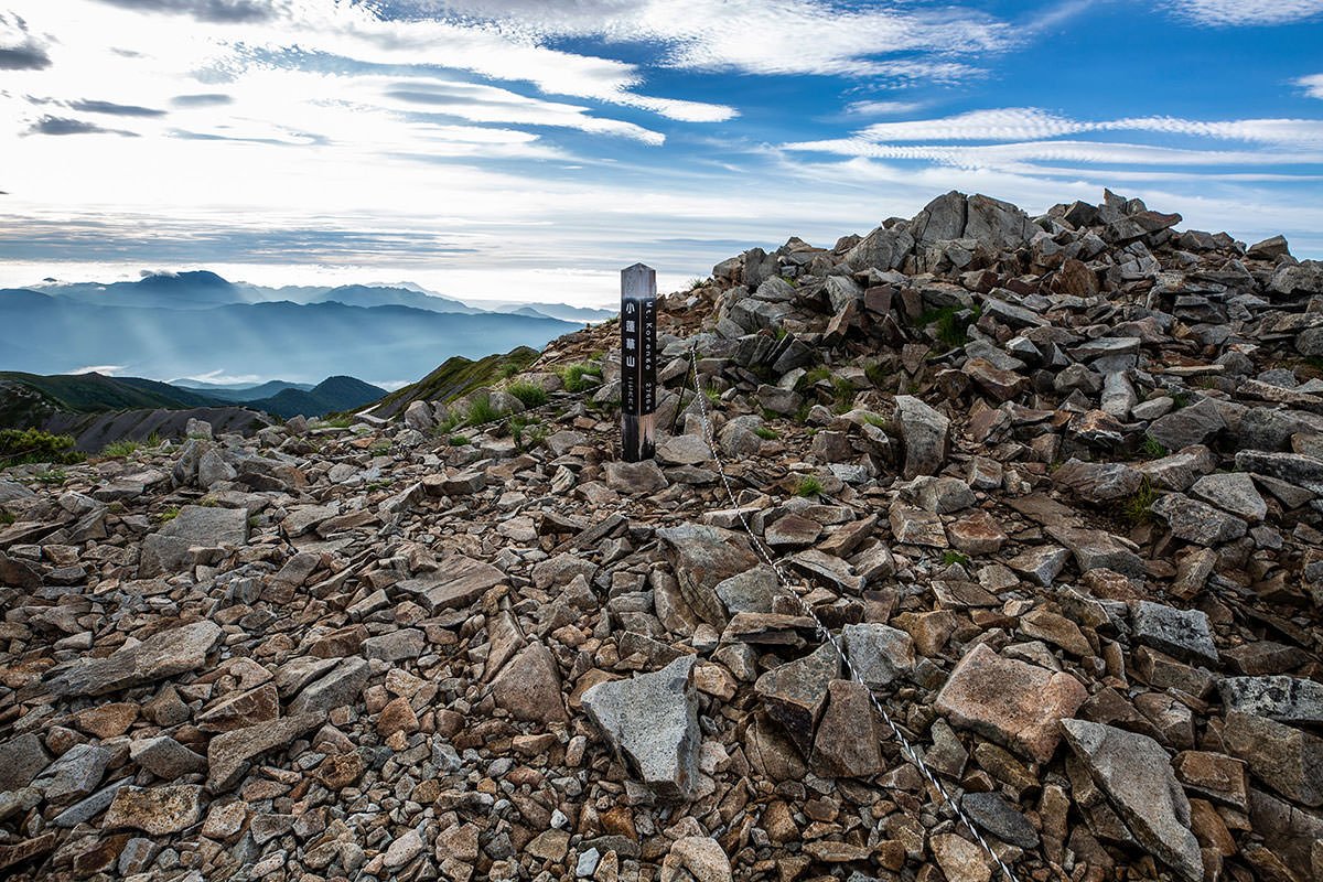【白馬岳 栂池自然園】登山百景-山頂の標
