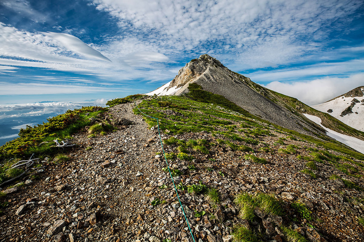 【白馬岳 栂池自然園】登山百景-山頂はあの先