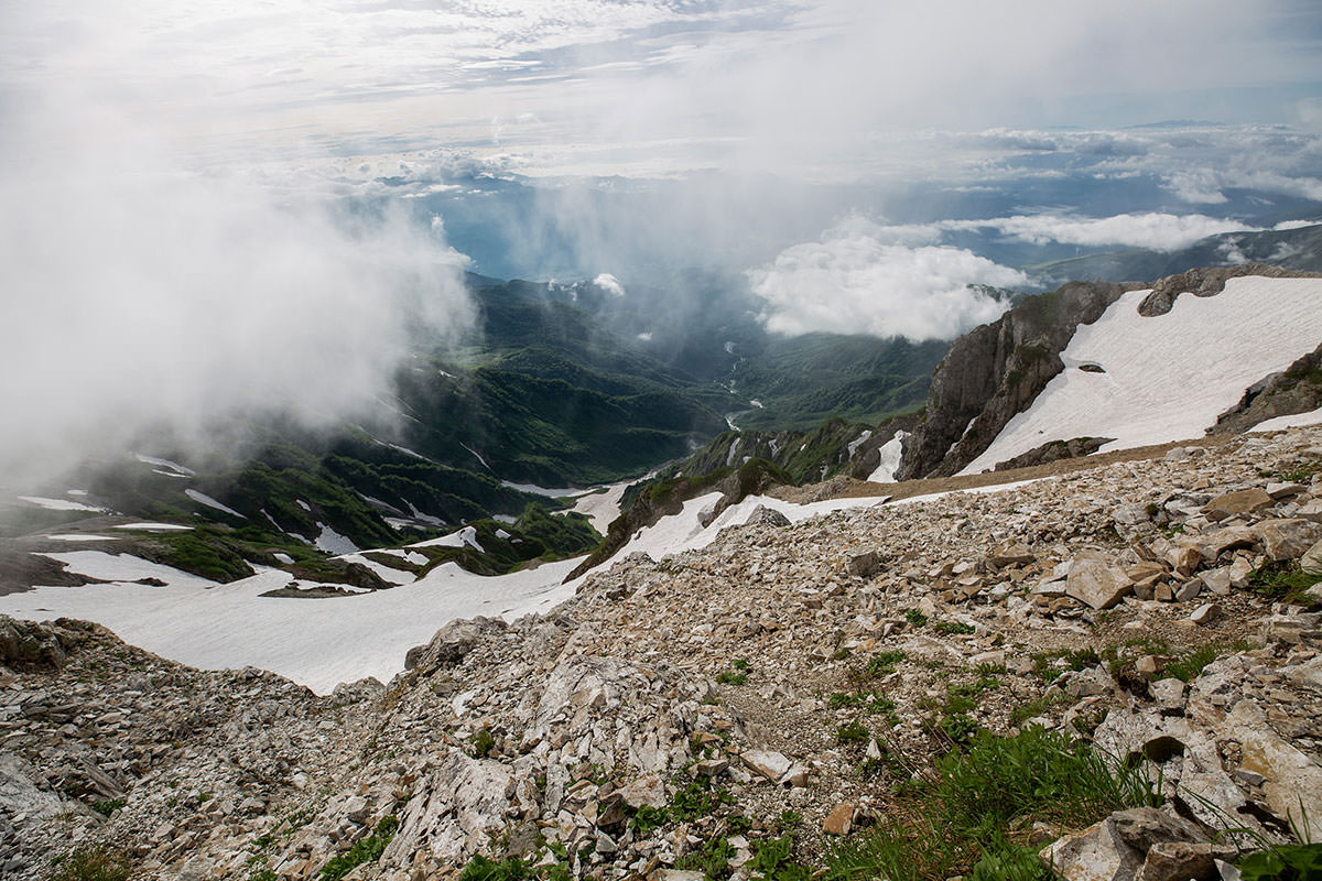 【白馬岳 栂池自然園】登山百景-真下に猿倉も見える