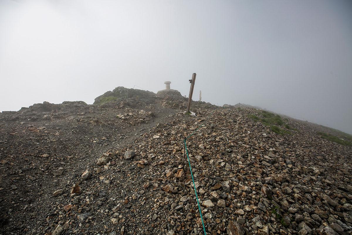 【白馬岳 栂池自然園】登山百景-白馬岳に着いた