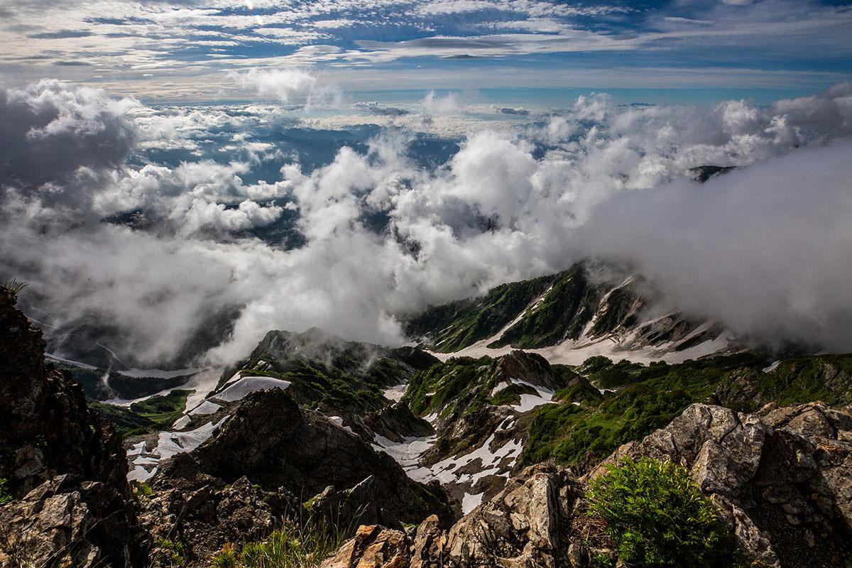 【白馬岳 栂池自然園】登山百景-東側の景色