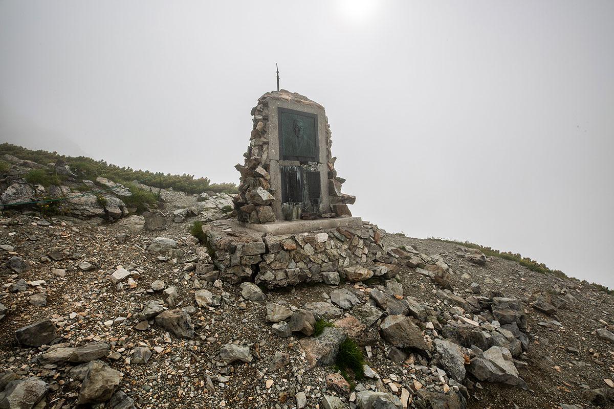 【白馬岳 栂池自然園】登山百景-松沢さんの碑