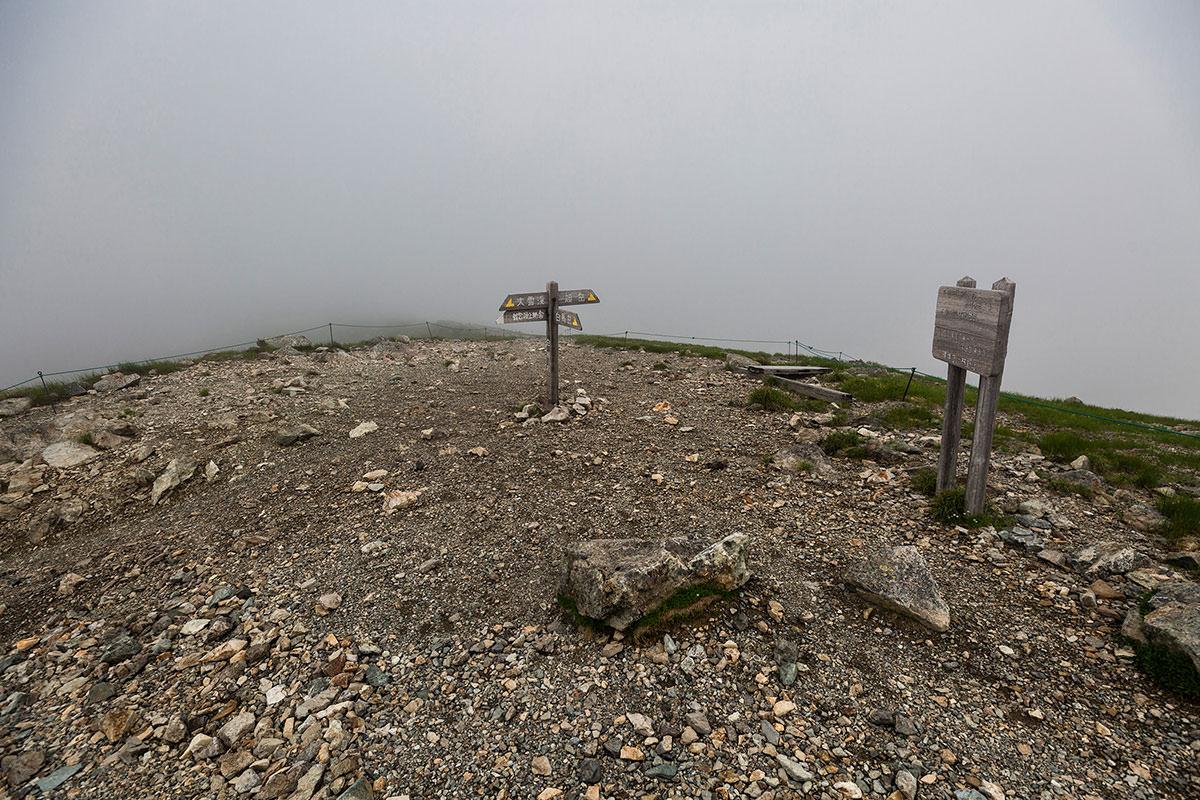 【白馬岳 栂池自然園】登山百景-大雪渓への分岐