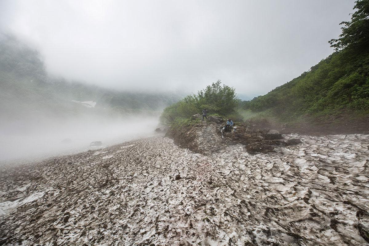 【白馬岳 栂池自然園】登山百景-大雪渓終了