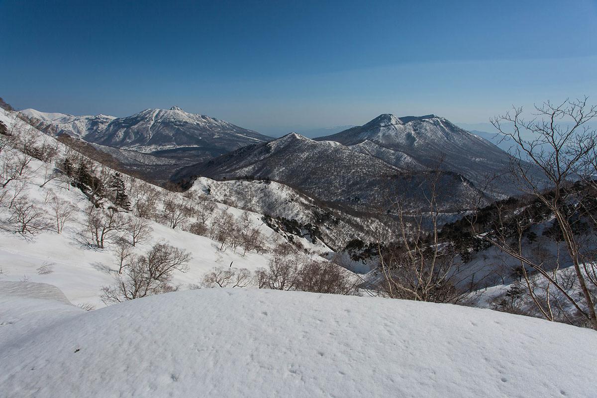 黒姫山が見える