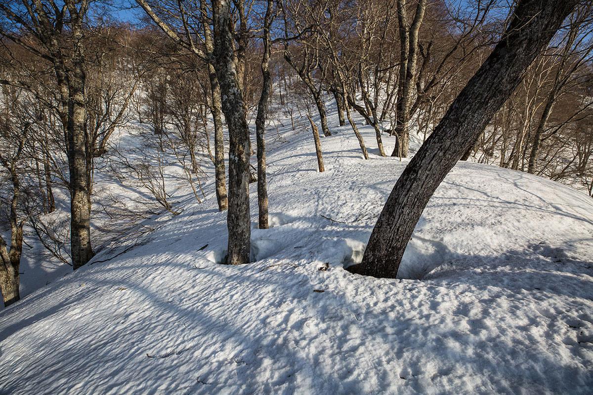 【高妻山】登山百景-夏季はロープがある登り