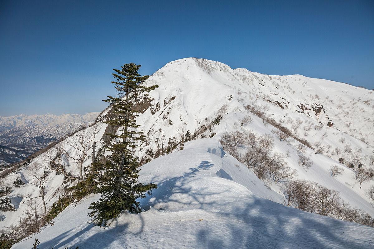 【高妻山】登山百景-九勢至の鞍部へと下る