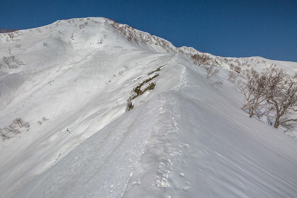 【高妻山 弥勒尾根新道】登山百景-最後の急登が近づく
