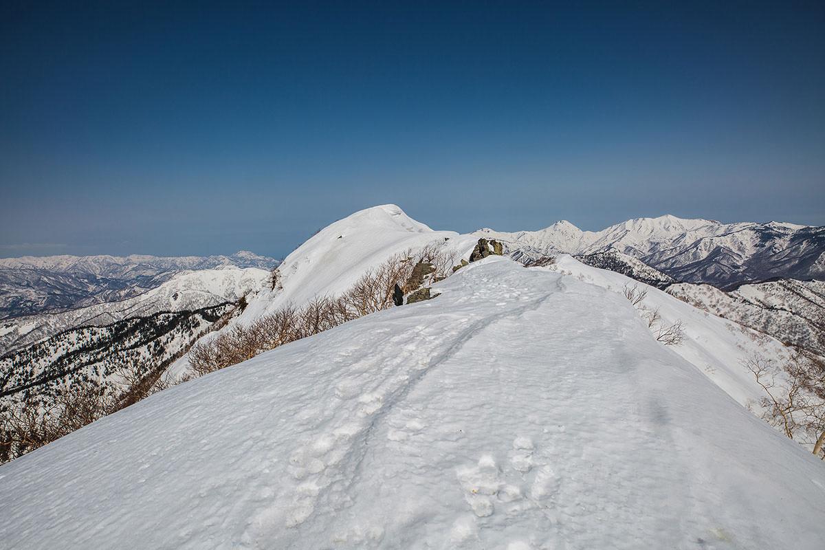 【高妻山 弥勒尾根新道】登山百景-山頂はあの盛り上がったところ