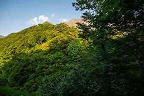 谷川岳が見えた