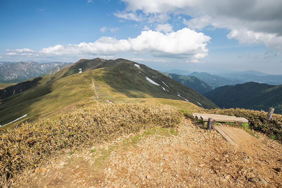 仙ノ倉山からの登山道