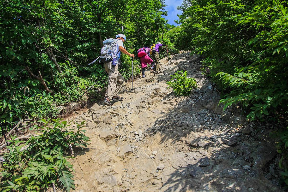 【谷川岳】登山百景-岩の坂道