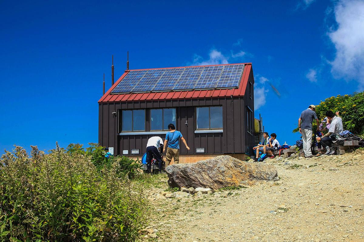 【谷川岳】登山百景-肩の小屋着いた。