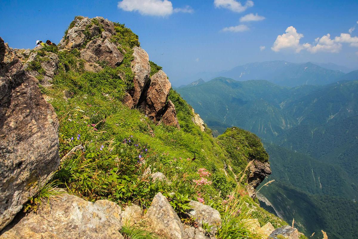 【谷川岳】登山百景-実は崖の上だったりする