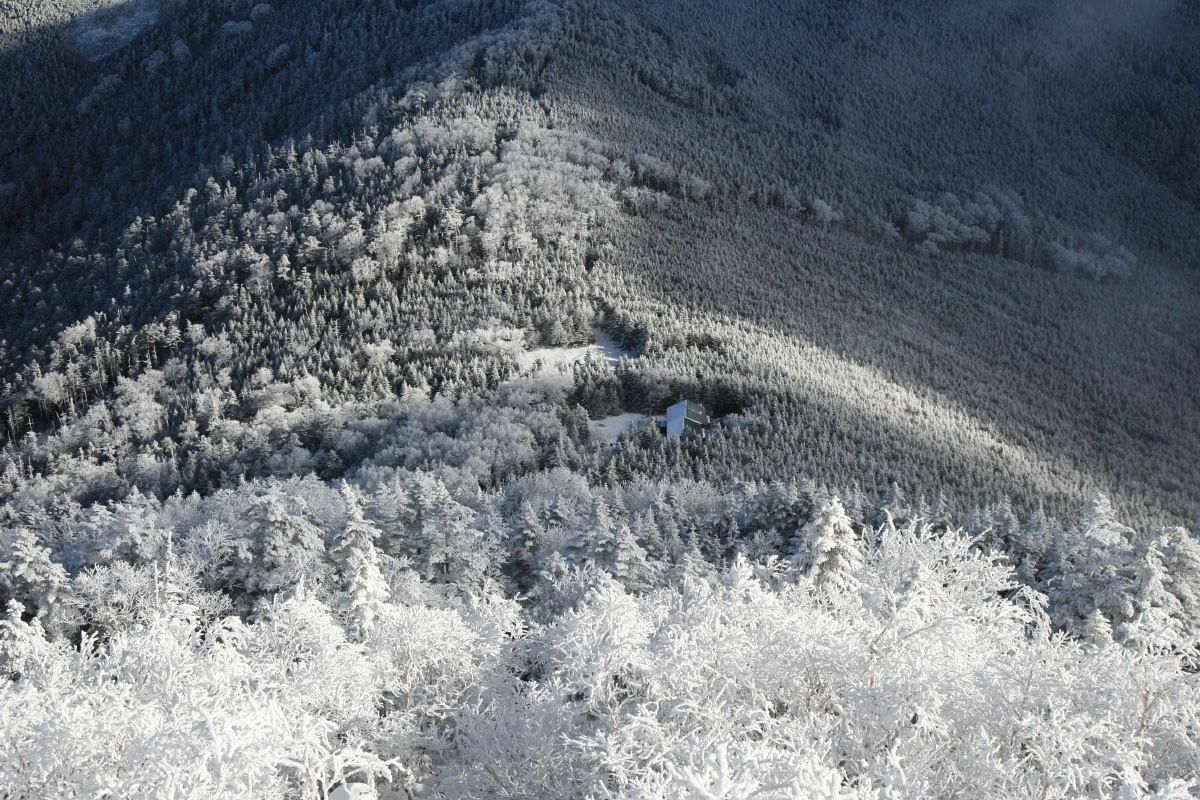 蓼科山からの白い景色