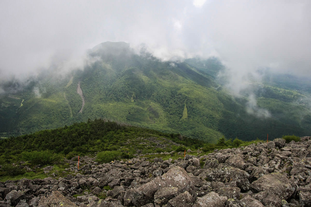【蓼科山】登山百景-【蓼科山】登山百景-北横岳が見えた