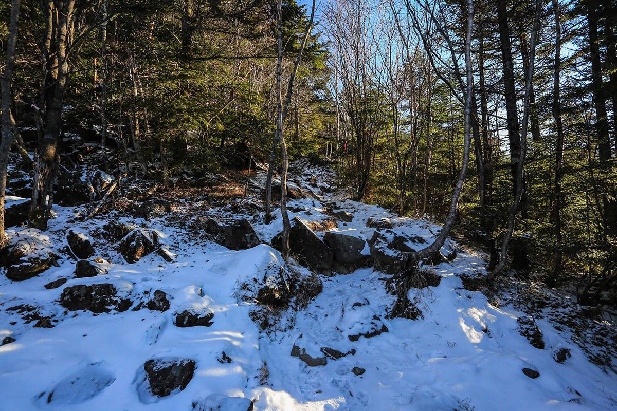 【蓼科山】登山百景-少し雪が増えた