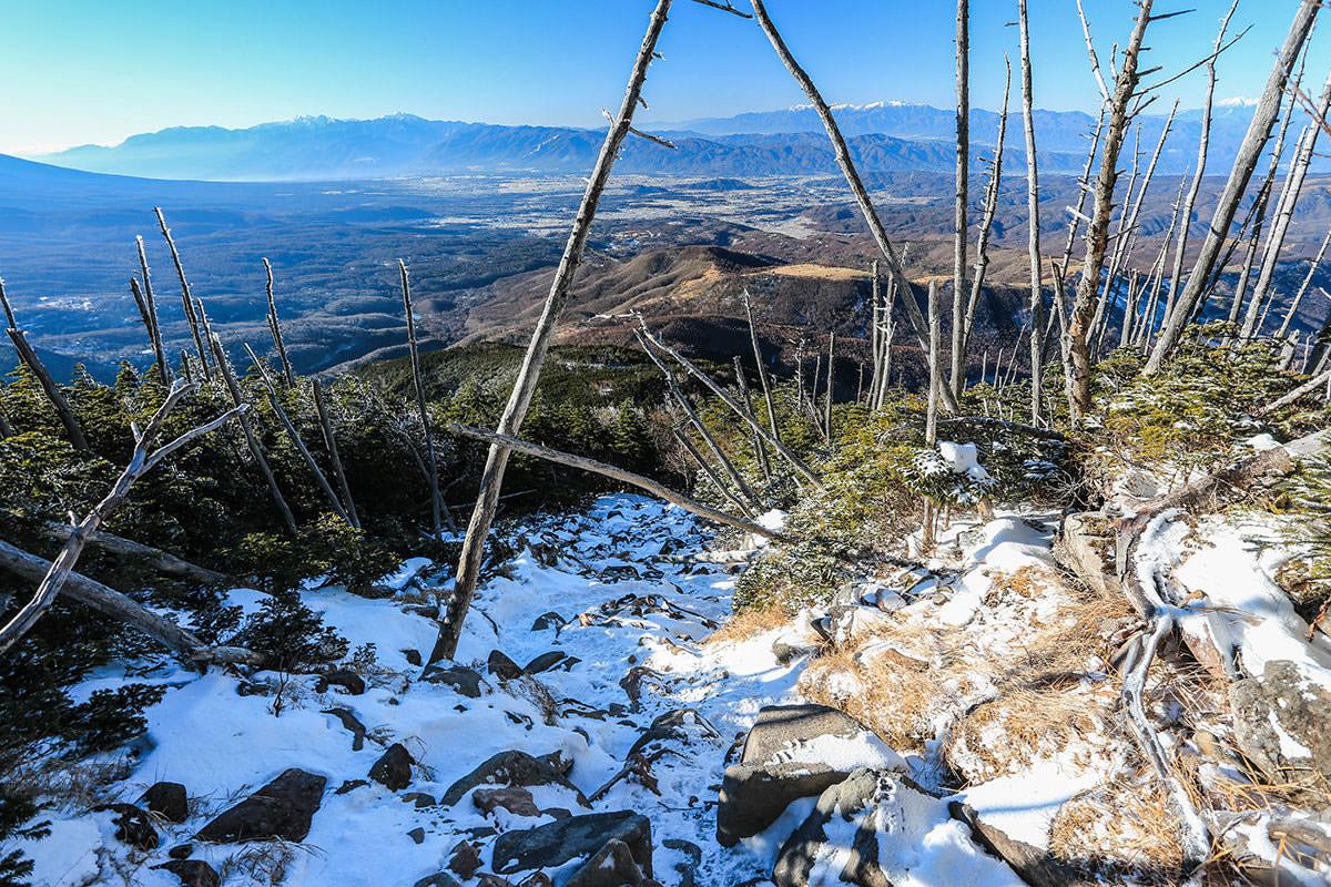 【蓼科山】登山百景-アルプスの眺めが良い