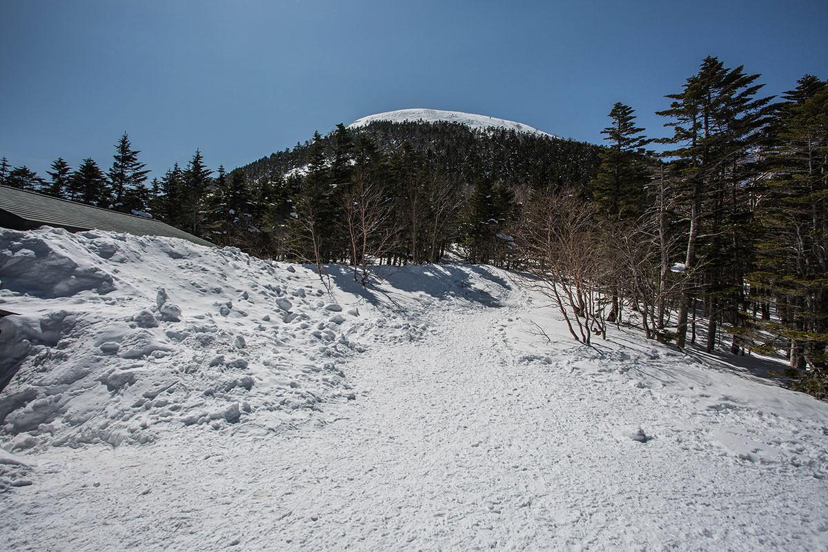 蓼科山の山頂は近い