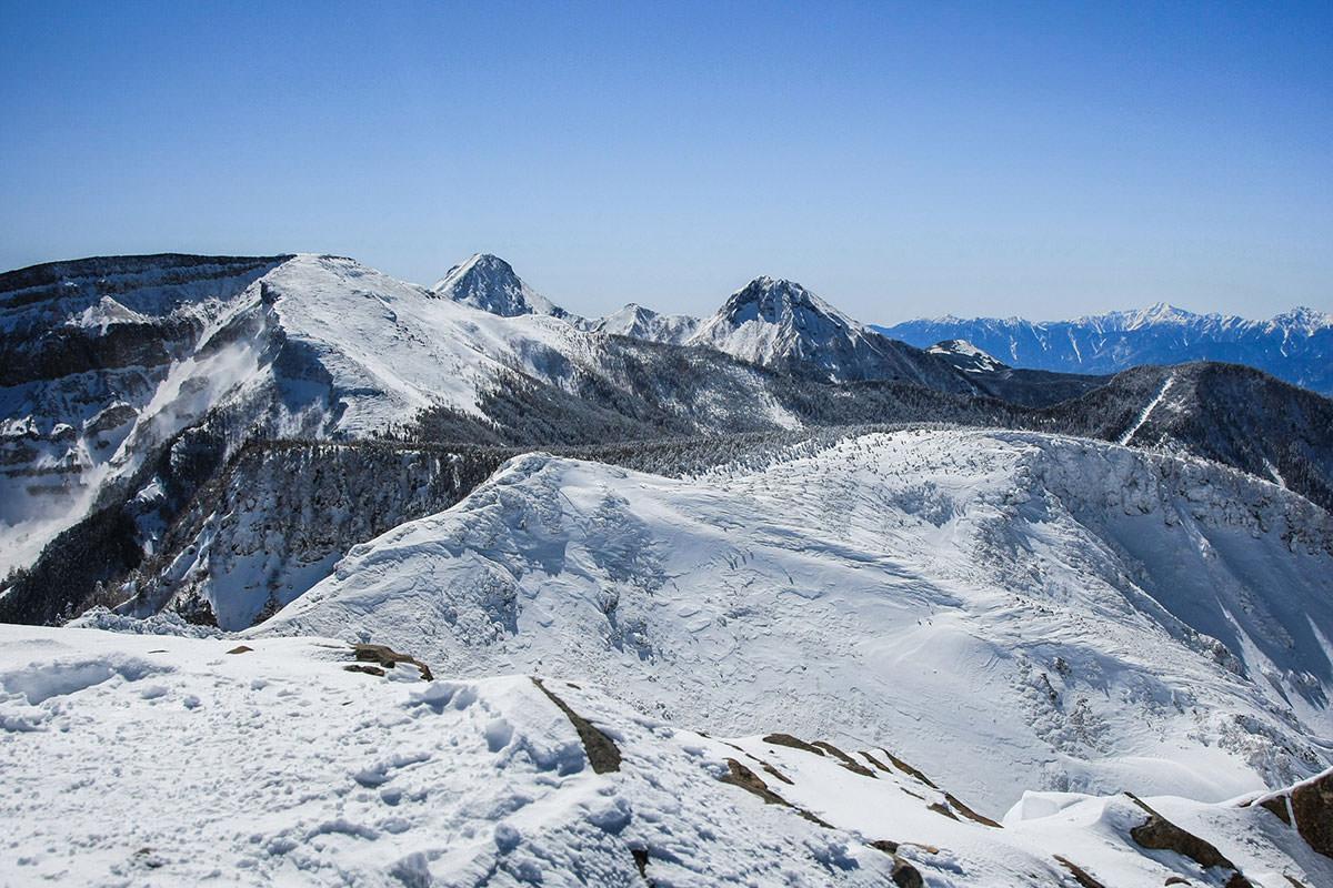 南八ヶ岳がよく見える