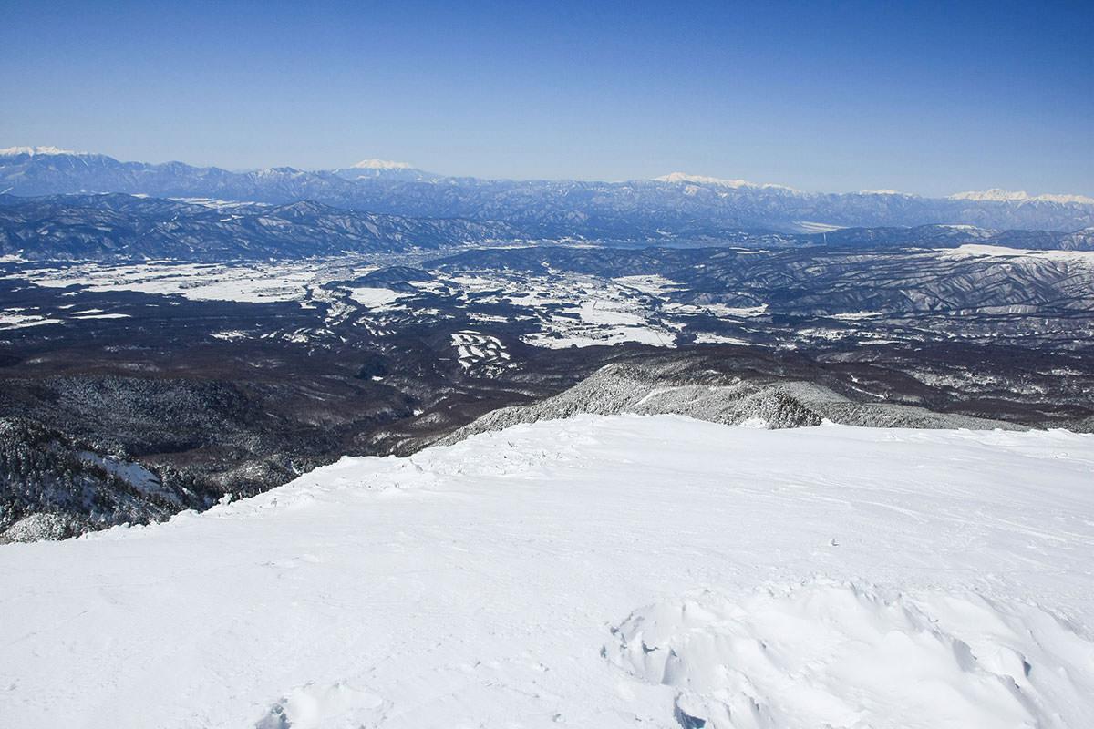 諏訪湖と御嶽・乗鞍